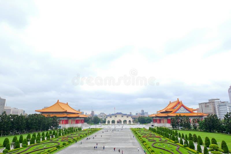 Erinnerungs-, nationales Theater und nationales Konzert Hall Taipei, Taiwan Chiang Kai-sheks lizenzfreie stockbilder