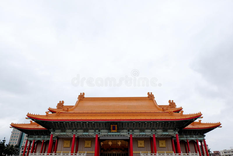 Erinnerungs-, nationales Theater und nationales Konzert Hall Taipei, Taiwan Chiang Kai-sheks stockfoto