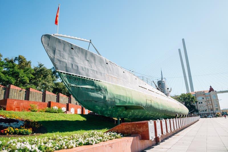 Erinnerungs- Unterwasser-Museum S-56 in Wladiwostok, Russland stockfoto