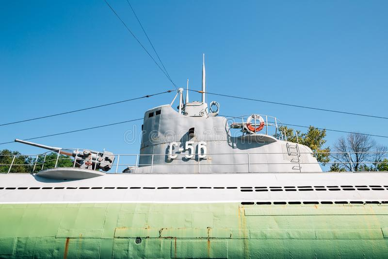 Erinnerungs- Unterwasser-Museum S-56 in Wladiwostok, Russland stockbilder
