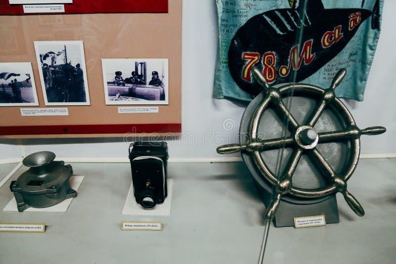 Erinnerungs- Unterwasser-Museum S-56 in Wladiwostok, Russland stockfotografie