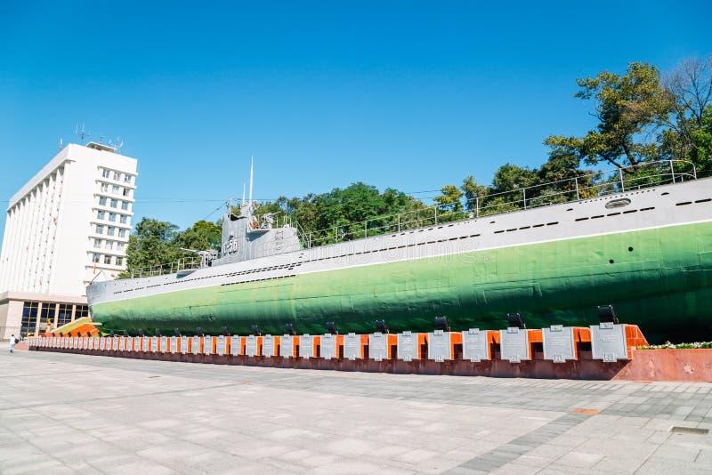 Erinnerungs- Unterwasser-Museum S-56 in Wladiwostok, Russland lizenzfreie stockfotos