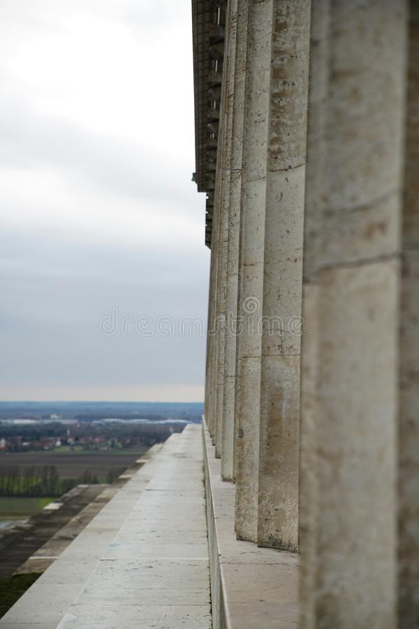 Erinnerungs-Walhalla auf den Bayern stockfotografie