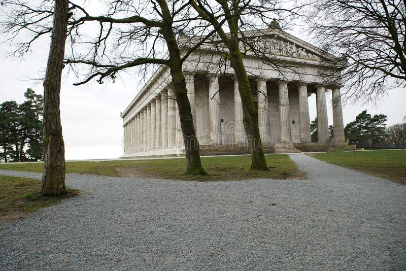 Erinnerungs-Walhalla auf den Bayern lizenzfreie stockbilder