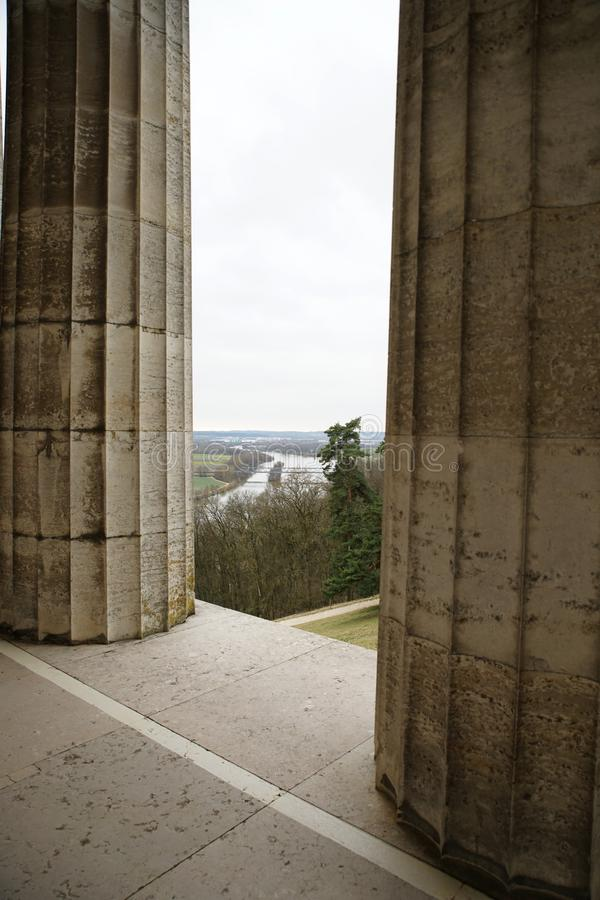 Erinnerungs-Walhalla auf den Bayern stockfoto