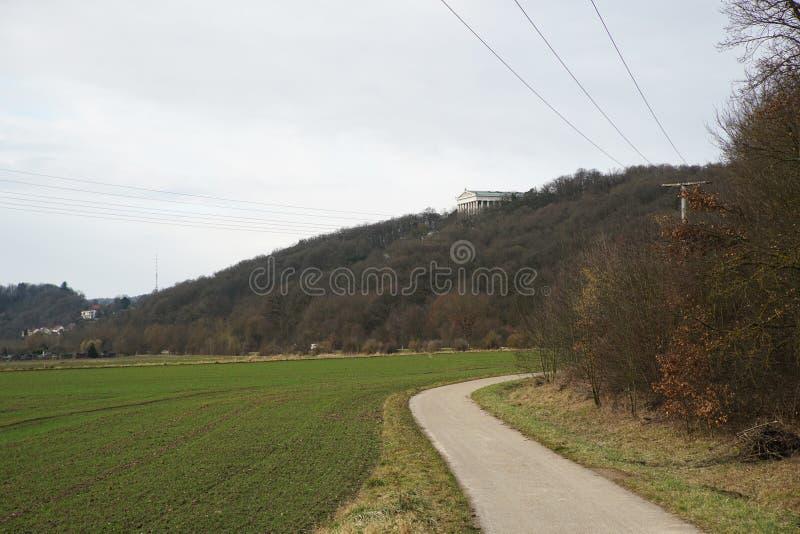 Erinnerungs-Walhalla auf den Bayern lizenzfreies stockbild