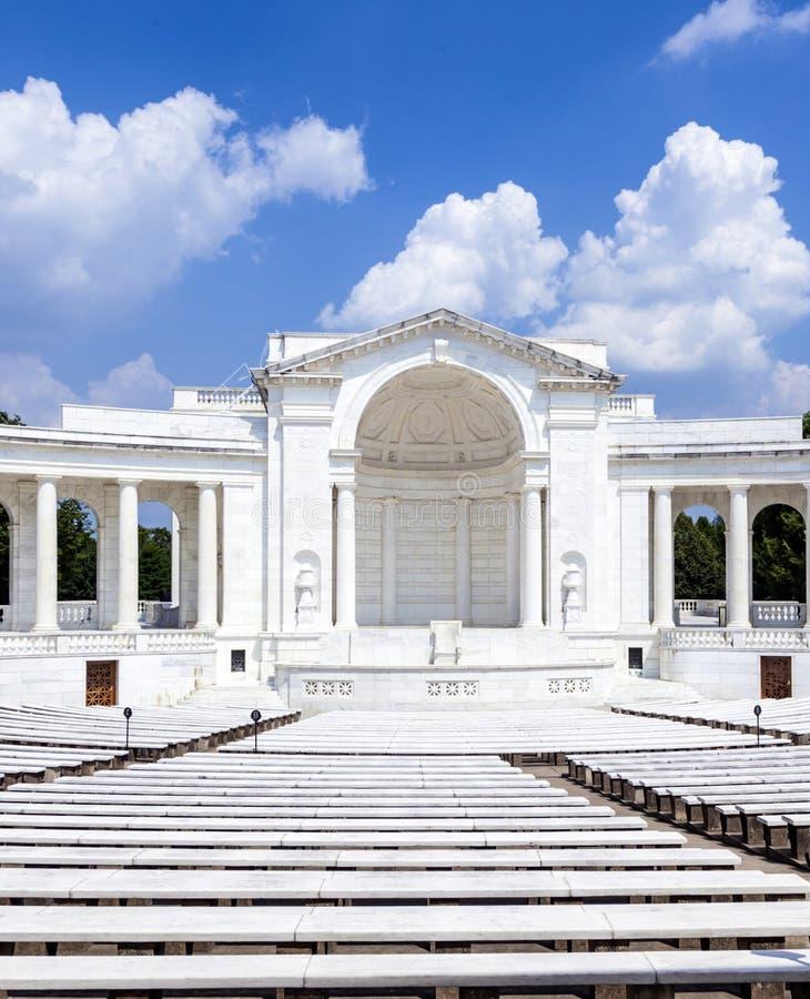 Erinnerungsamphitheater in Arlington stockfotos