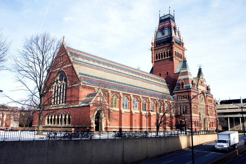 Erinnerungshalle der Universität Harvard stockfotografie