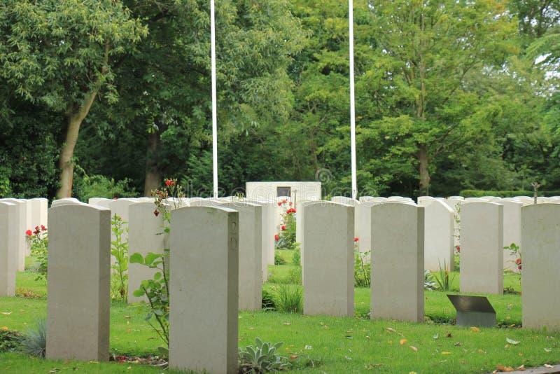 Erinnerungskirchhof des zweiten Weltkrieges stockfoto