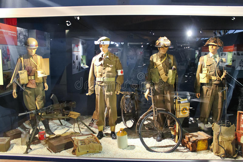 Erinnerungsmuseum des Kampfes von Normandie. stockfotos