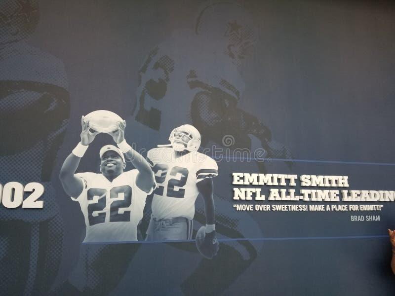 Erinnerungsstücke Emmitt Smith Dallas Cowboys TX der Stern stockfotografie