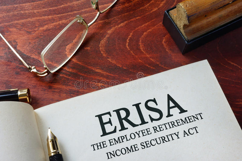 ERISA The Employee Retirement Income Security Act royalty free stock image