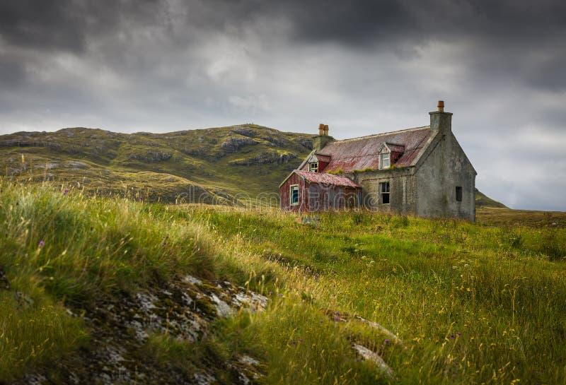 Eriskay的遗弃之家 免版税库存照片