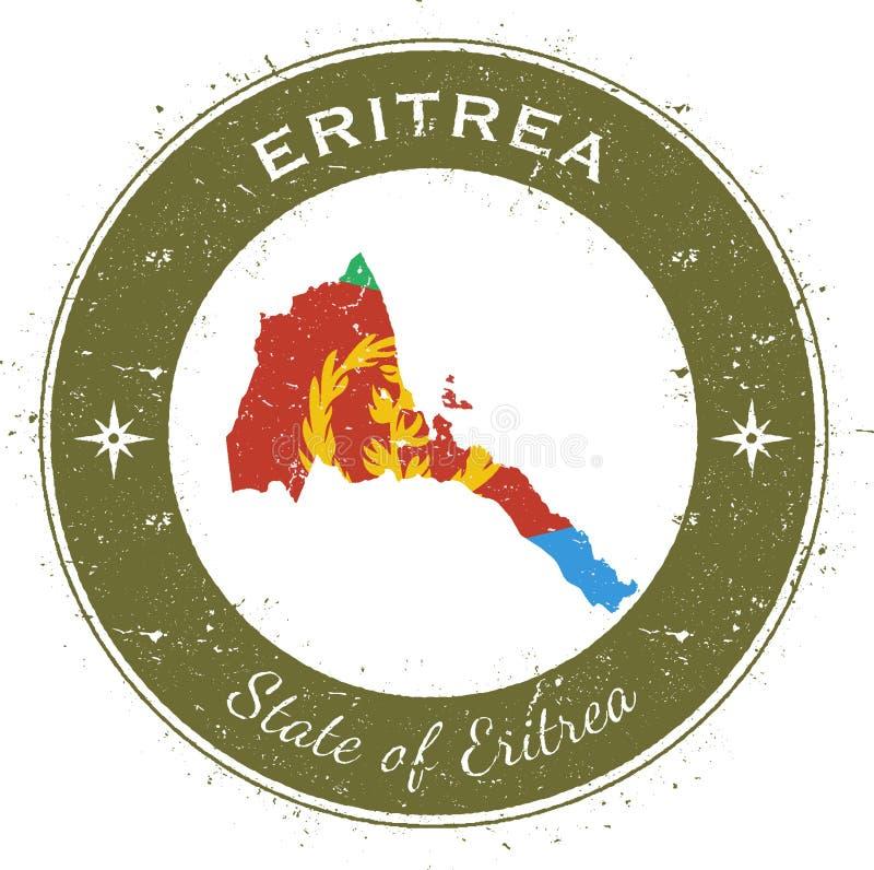 Eritrea circular patriotic badge. royalty free illustration