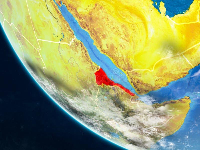 Eritrea del espacio en la tierra stock de ilustración