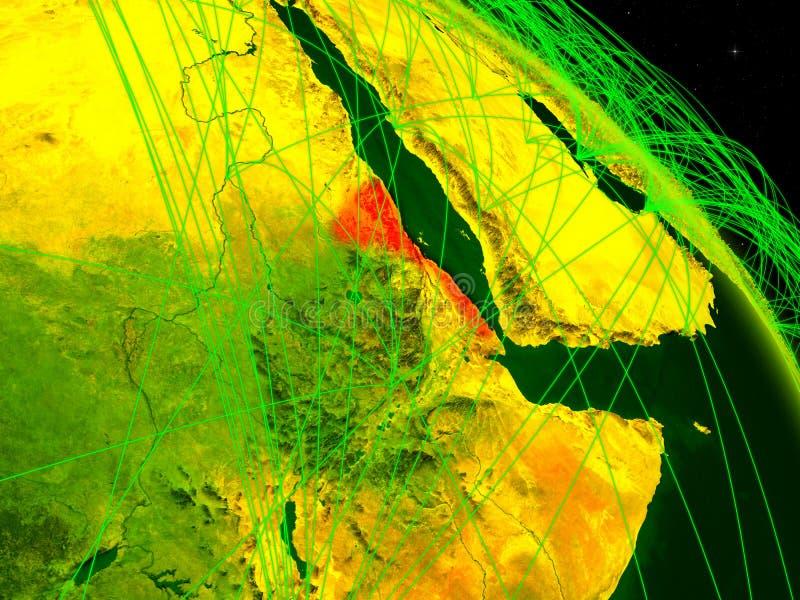 Eritrea en el globo digital stock de ilustración