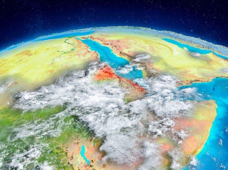 Eritrea en la tierra stock de ilustración