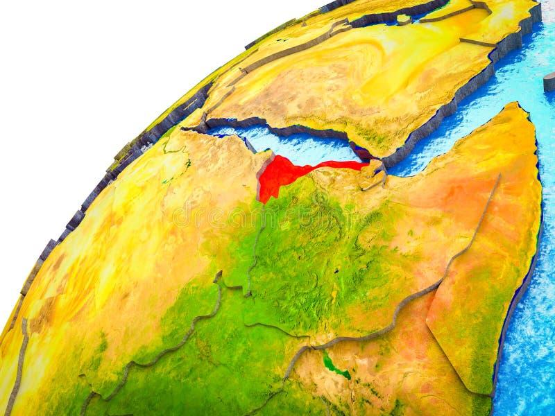 Eritrea en la tierra 3D ilustración del vector