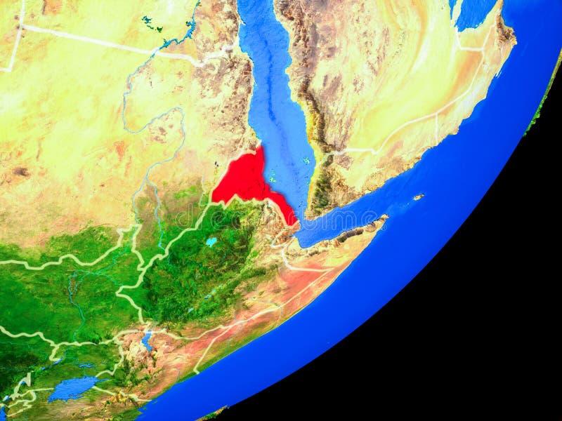 Eritrea en la tierra del espacio ilustración del vector