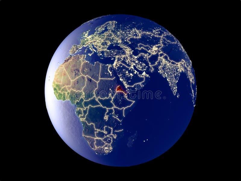 Eritrea en la tierra del espacio stock de ilustración