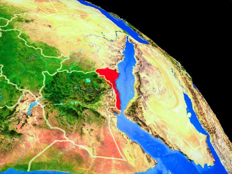 Eritrea en la tierra del planeta ilustración del vector