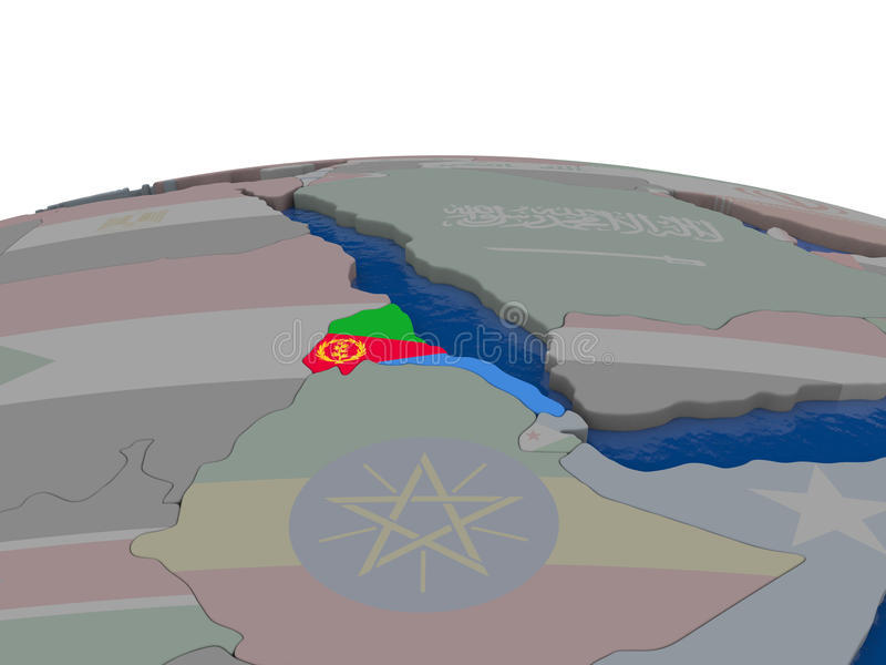 Download Eritrea with flag stock illustration. Image of symbol - 83717040