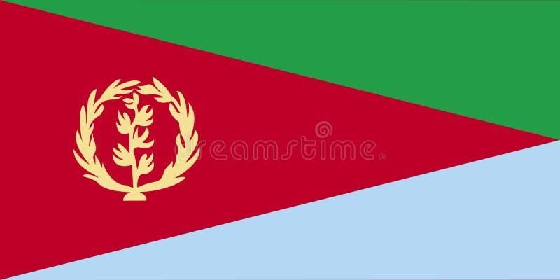 eritrea flaga ilustracji