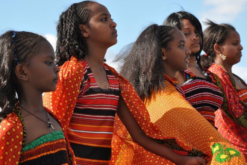 Eritrean Dancers. At Edmonton's Heritage Days royalty free stock photos