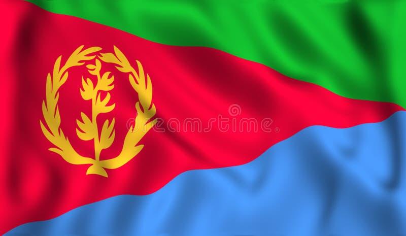 Eritrean del símbolo de la bandera de Eritrea que agita libre illustration