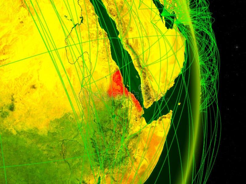 Eritreia na terra digital ilustração stock