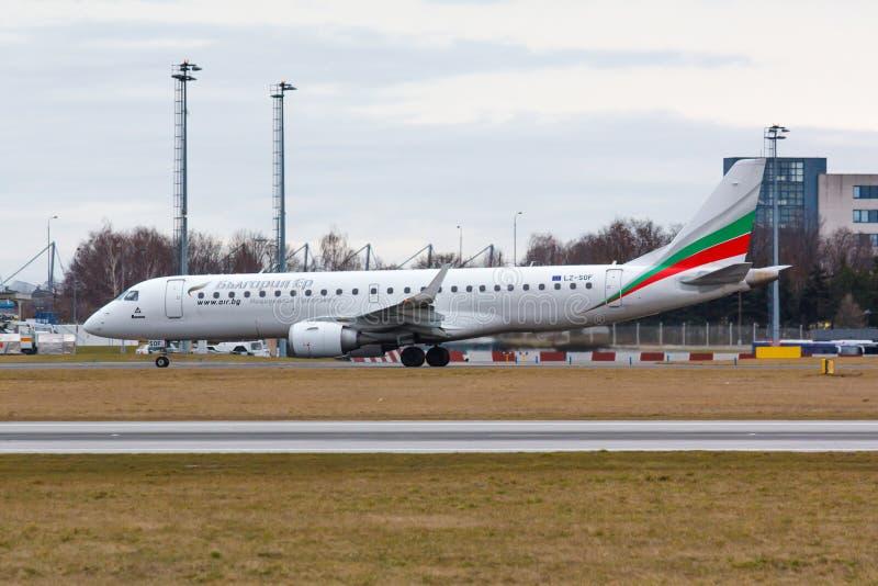 Erj-190 αέρας της Βουλγαρίας στοκ εικόνες