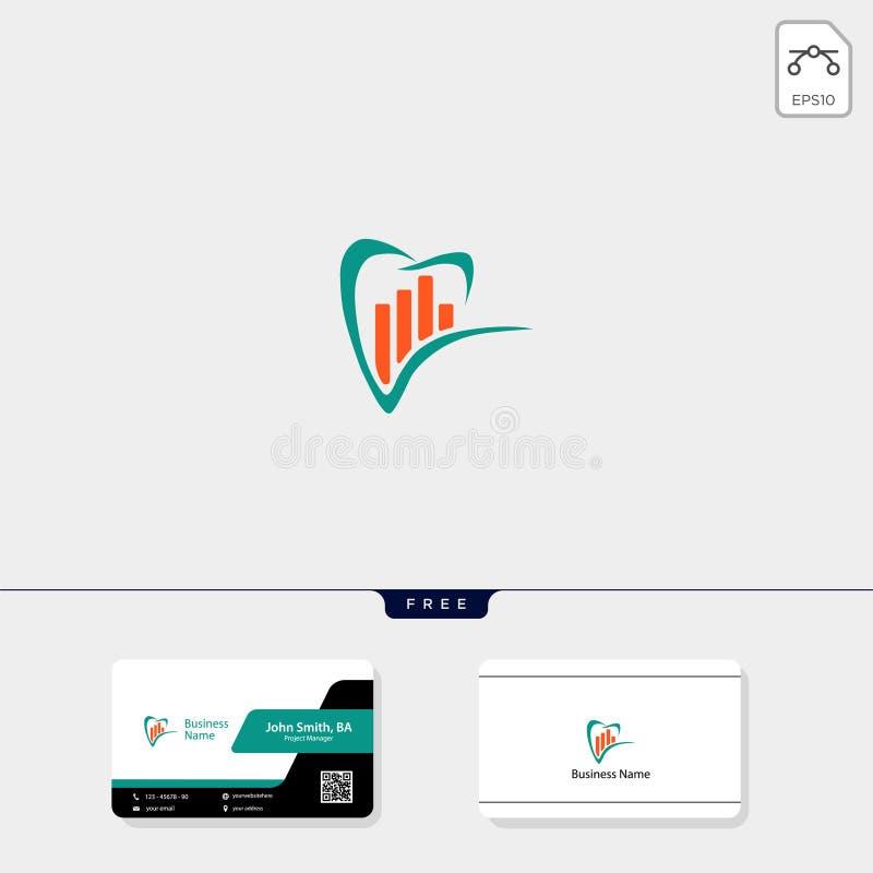 erklärende Finanzkonzeptlogoschablonen-Vektorillustration, freier Visitenkarteentwurf lizenzfreie abbildung