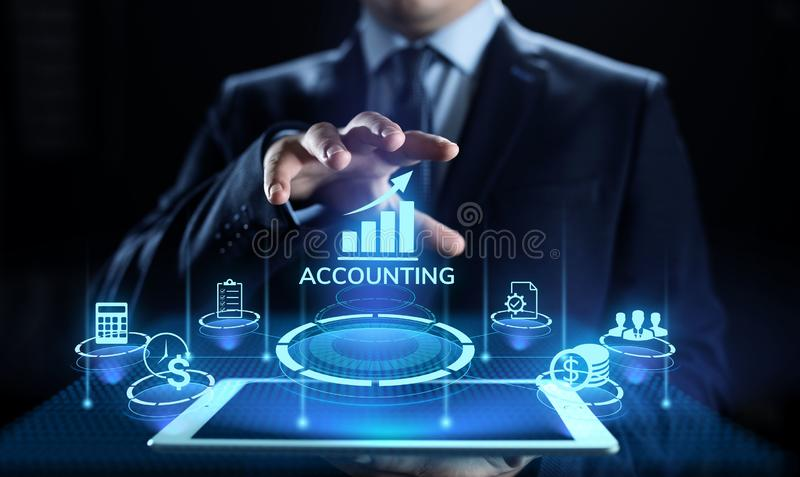 Erklärendes Buchhaltungs-Bankwesen-Berechnungs-Geschäftsfinanzkonzept stockfotos