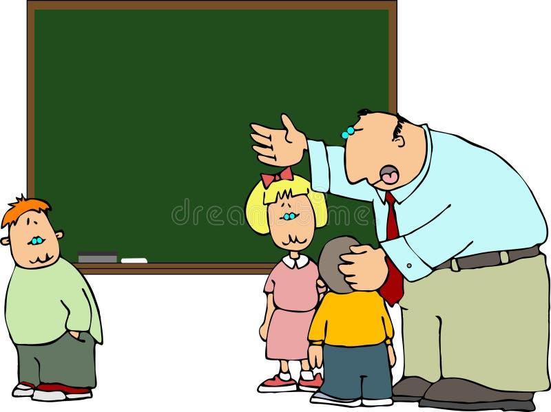 Erklärung des Lehrers stock abbildung