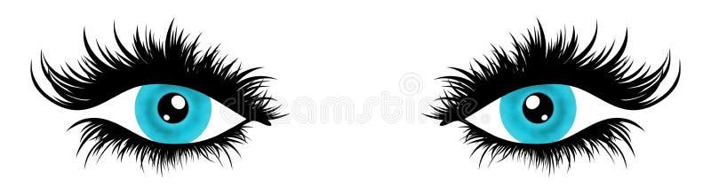 Erläuterte Augen lizenzfreie abbildung
