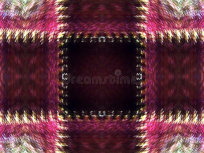 Erläuterter abstrakter Hintergrund des rosa karierten Musters mit Zickzack-Rändern vektor abbildung