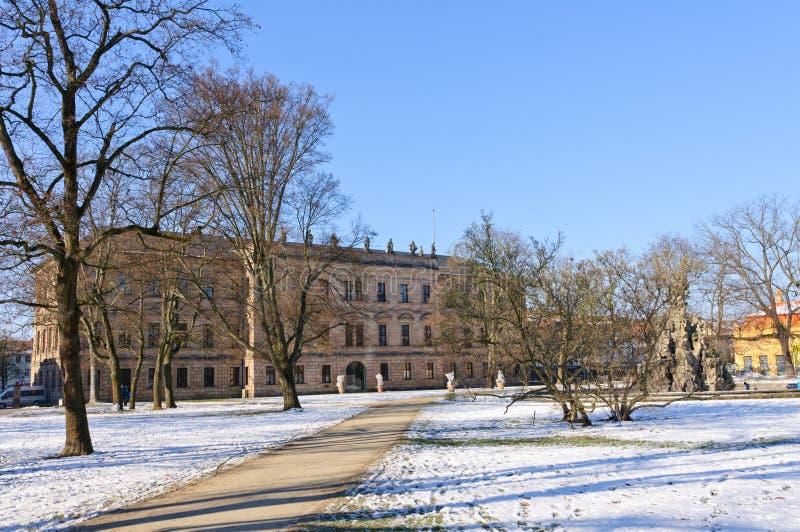 Erlangen, Germania in inverno immagine stock libera da diritti