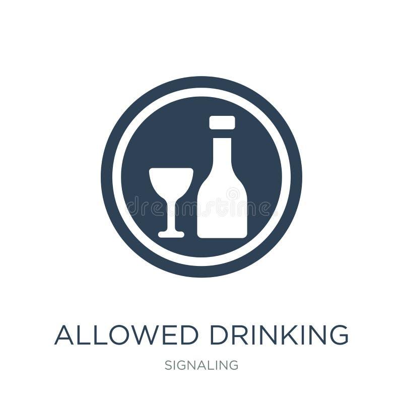 erlaubte trinkende Ikone in der modischen Entwurfsart erlaubte trinkende Ikone lokalisiert auf weißem Hintergrund erlaubte trinke vektor abbildung