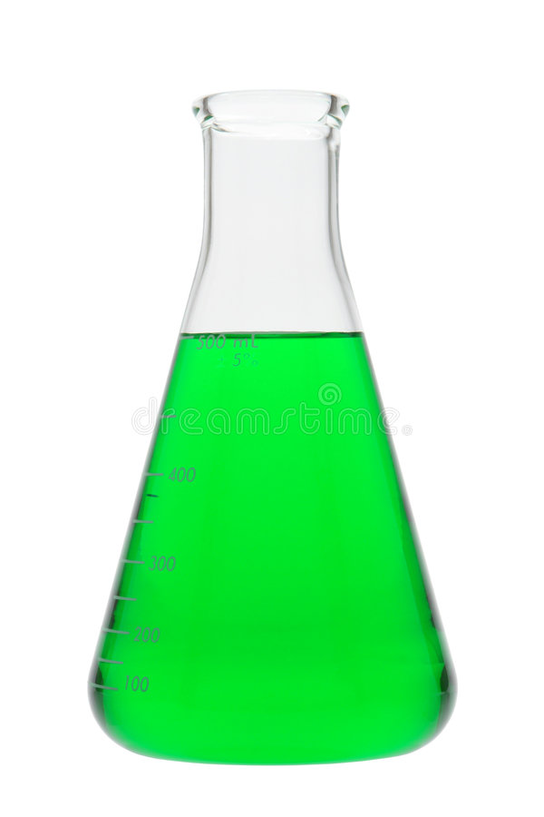 Erlenmeyer Flask In Science Research Lab Royalty Free