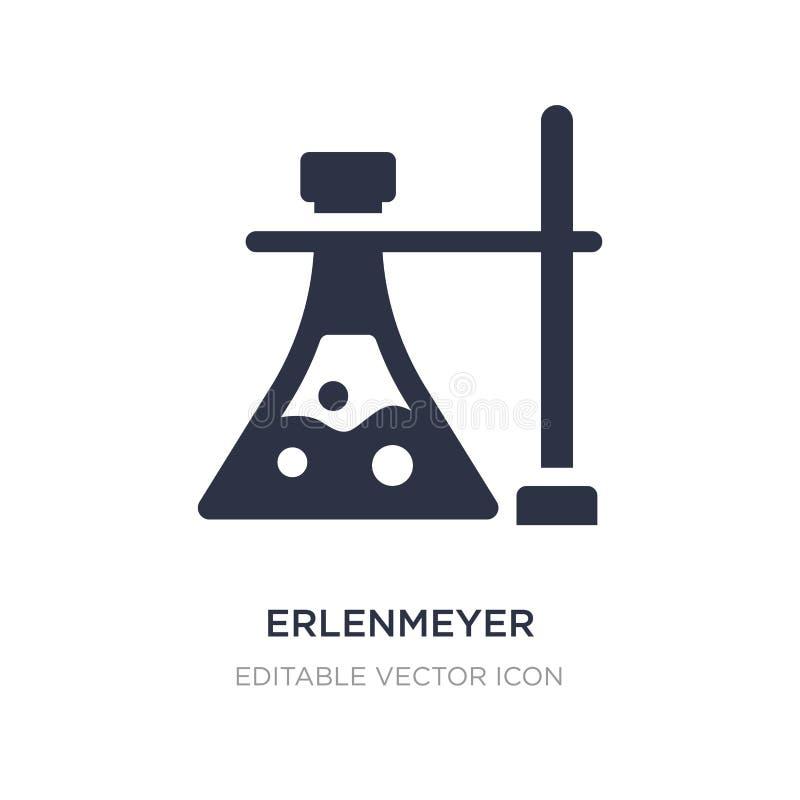 Erlenmeyer-fles en steunpictogram op witte achtergrond Eenvoudige elementenillustratie van Algemeen concept vector illustratie
