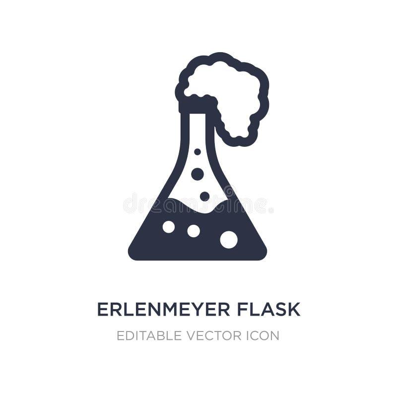 Erlenmeyer-flespictogram op witte achtergrond Eenvoudige elementenillustratie van Algemeen concept stock illustratie
