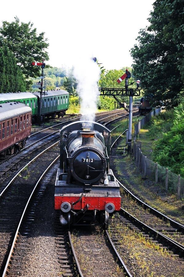 Erlestoke Manor Steam Locomotive, Bridgnorth. stock photo