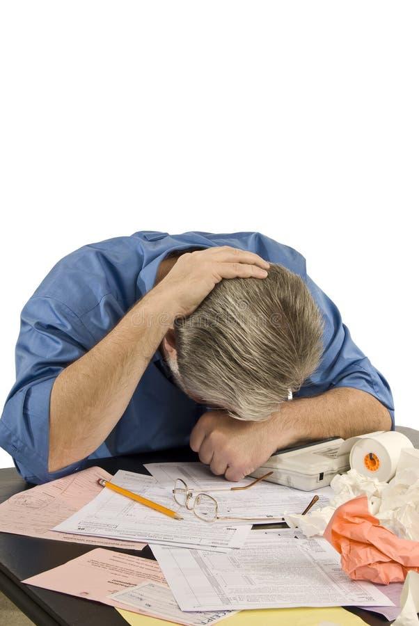 Ermüdet von den Steuern lizenzfreie stockfotografie