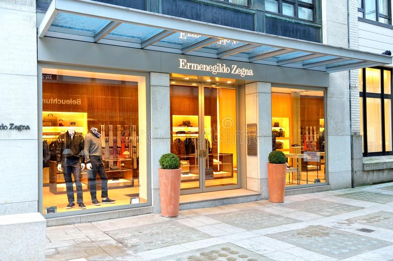 Ermenegildo Zegna luxury fashion store in Hamburg royalty free stock photography