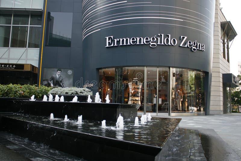 Ermenegildo Zegna sklep w Louhu okręgu Shenzhen Chiny obrazy stock