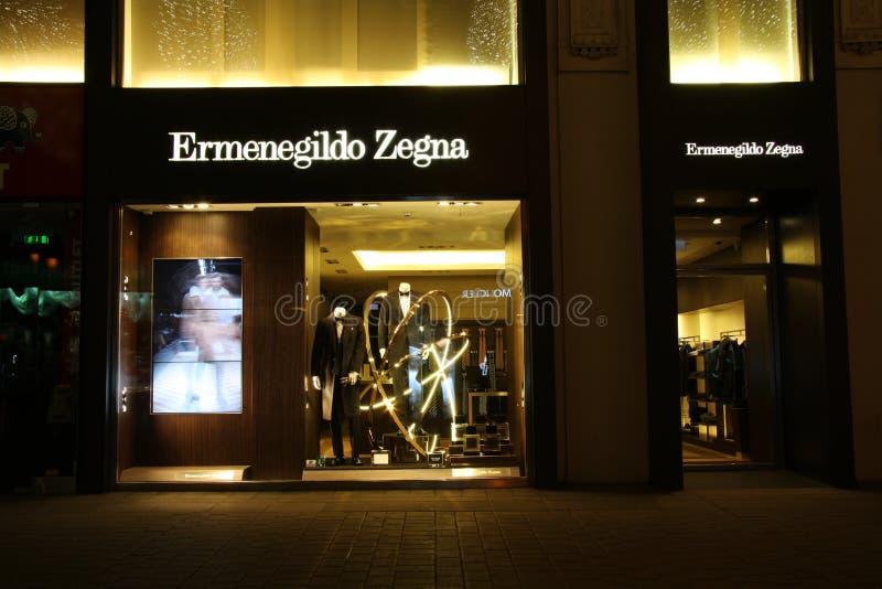 Download Ermenegildo Zegna store editorial stock photo. Image of vienna - 28429863