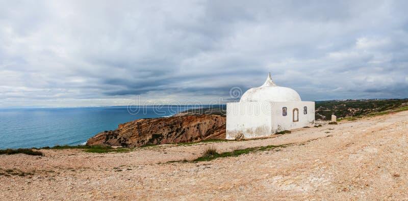 Ermida da Memoria or Memory Hermitage in the Nossa Senhora do Cabo or Pedra Mua Sanctuary. stock photos