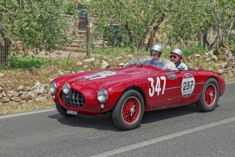 Ermini sport 1100 Motto (1952) i Mille Miglia 2014 arkivfoto