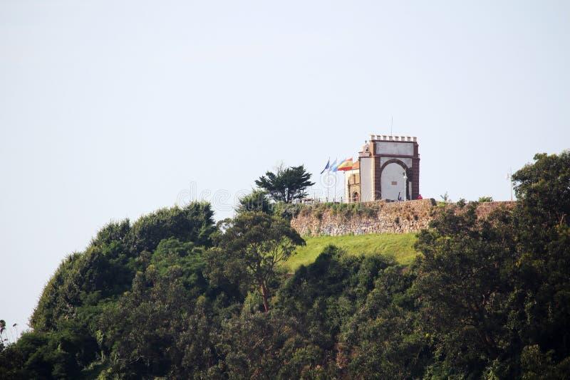 Ermita de la Virgen de GuÃa, Ribadesella, España fotografía de archivo libre de regalías
