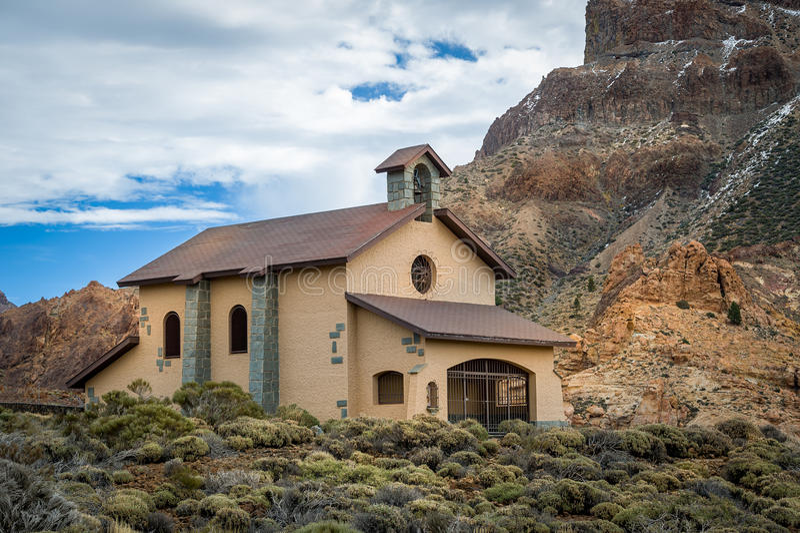 Ermita de Nuestra παρεκκλησι στην εθνική επιφύλαξη EL Teide, Tenerife νησί στοκ εικόνες